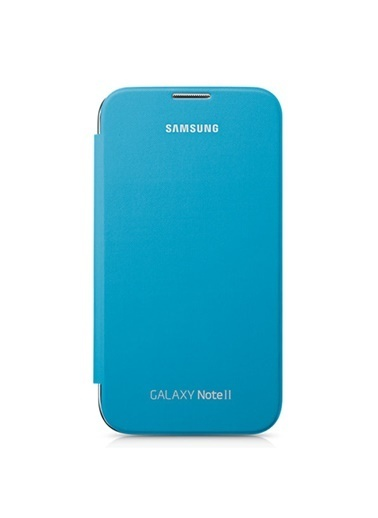 Samsung  Note 2 Flıp Cover Mavı Kılıf Renkli